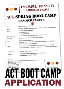 ACT Boot Camp Application