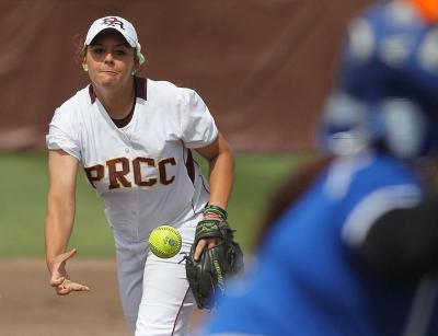 Pearl River's Rachel Hickman picked up the loss in the Lady Wildcats' 7-3 loss to East Central