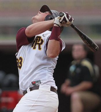 Pearl River's Carter Hankins pops out