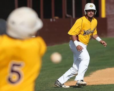 Pearl River's Brody Bray plays off third base in earlier Wildcat baseball action