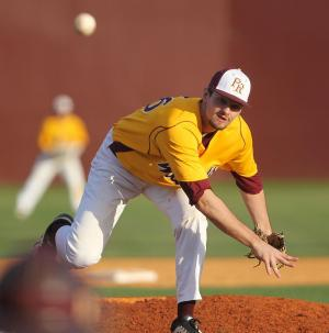 Pearl River reliever John Cornish delivers a pitch in the Wildcats 14-3 loss