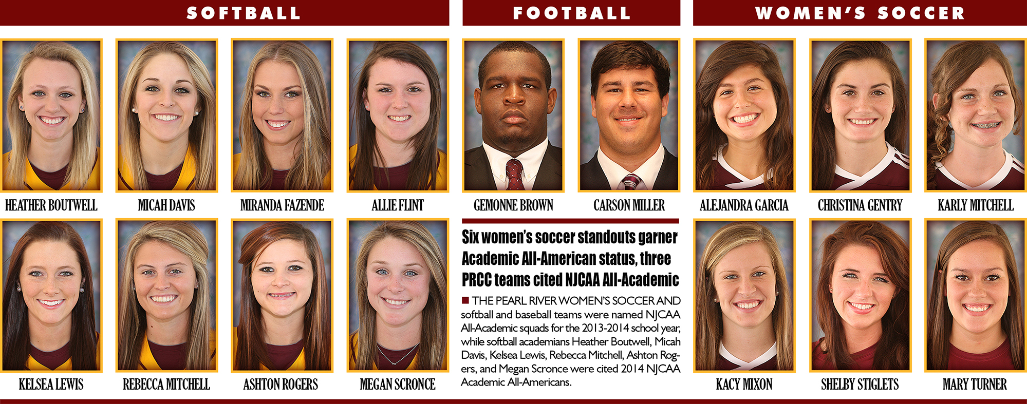 All-Academic Athletes at Pearl River