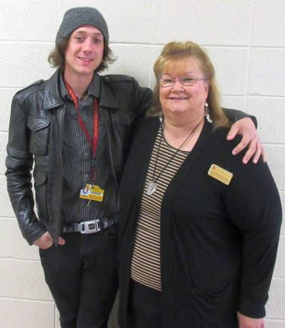 PRCC student Evan Thornton and English instructor Dr. Terri Ruckel