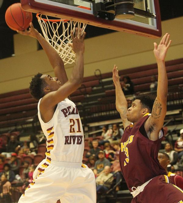 Pearl River's Darral Willis goes up for two