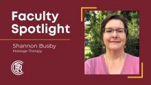 Shannon Busby Massage Therapy Instructor at PRCC