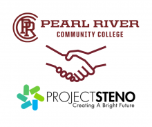 Pearl River Community College handshake with ProjectSteno