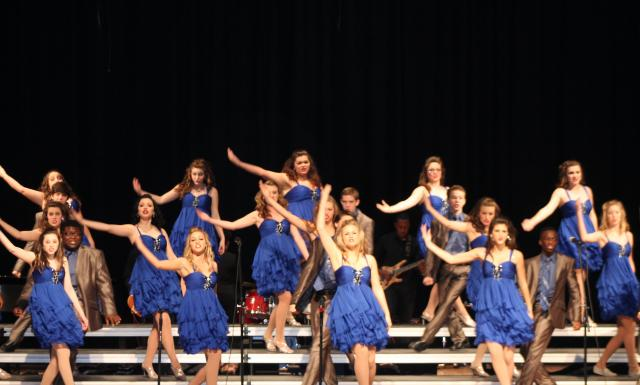 The Central Attraction showchoir from Pearl River Central High School performs Feb. 2 during the Mississippi Showchoir Contest hosted by Pearl River Community College. Central Attraction was fourth runner-up in the contest.